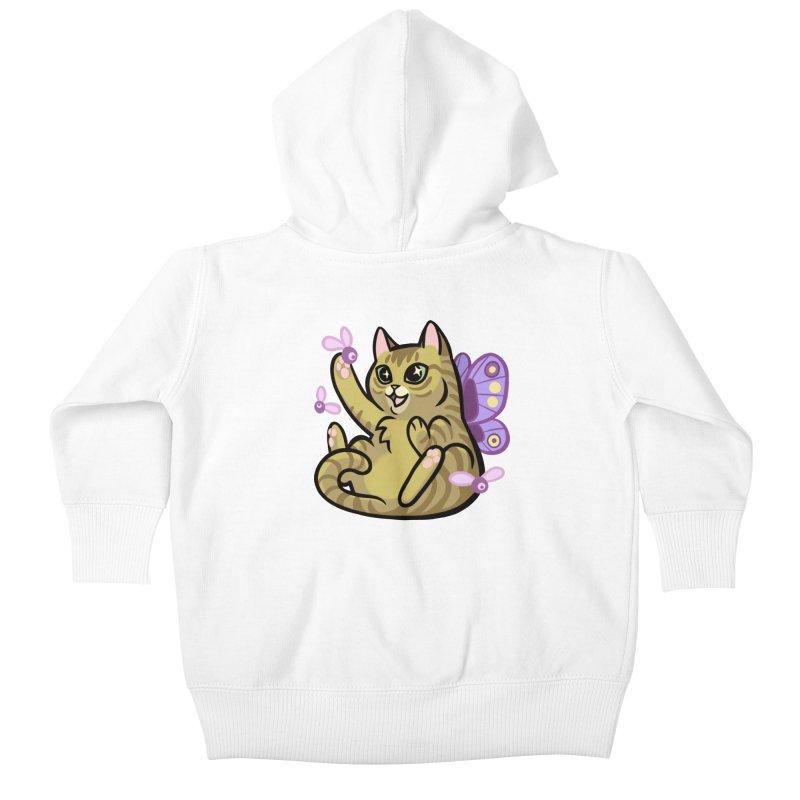 Fairy Cat Kids Baby Zip-Up Hoody by mirana's Artist Shop