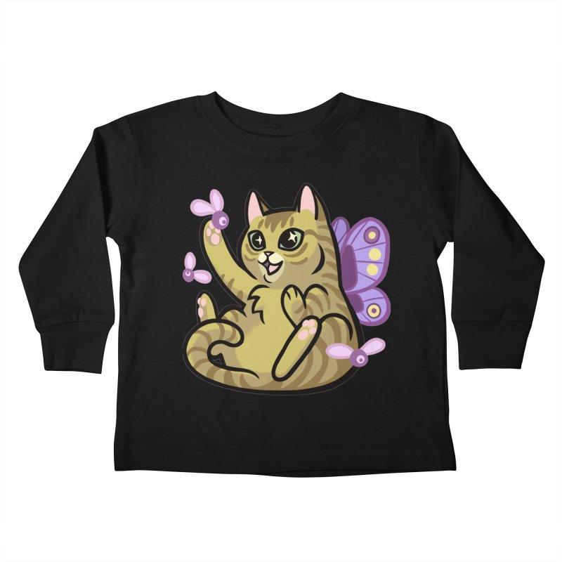 Fairy Cat Kids Toddler Longsleeve T-Shirt by The Art of Mirana Reveier