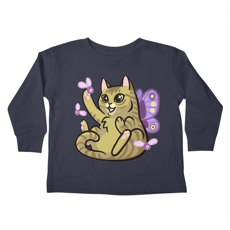 Fairy Cat Kids Toddler Longsleeve T-Shirt by mirana's Artist Shop