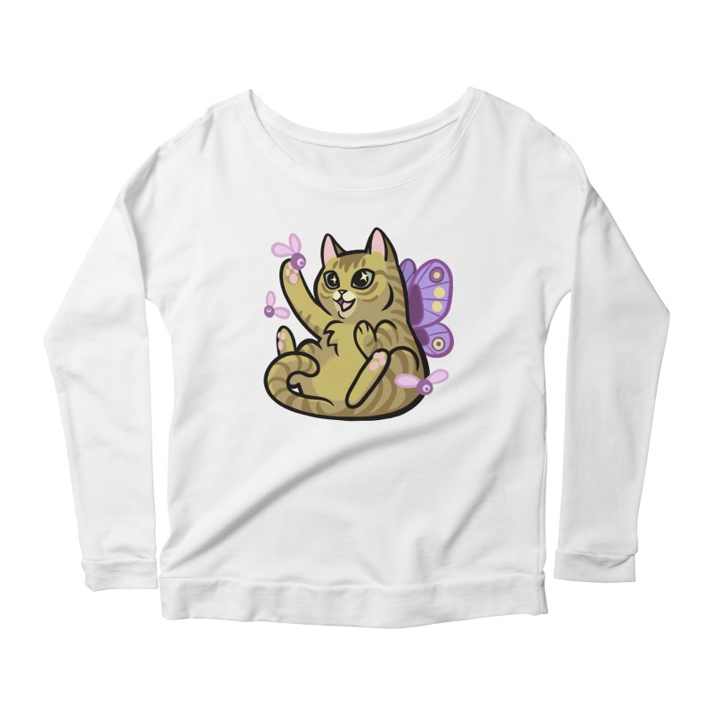 Fairy Cat Women's Longsleeve Scoopneck  by mirana's Artist Shop