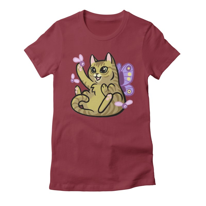 Fairy Cat Women's Fitted T-Shirt by mirana's Artist Shop