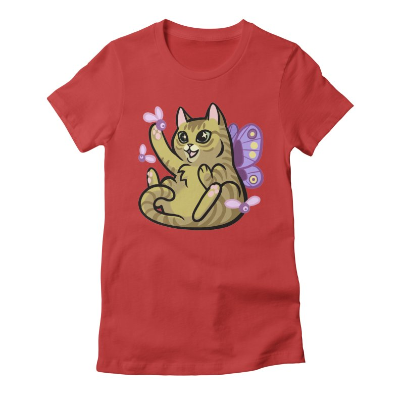 Fairy Cat Women's Fitted T-Shirt by mirana's Artist Shop