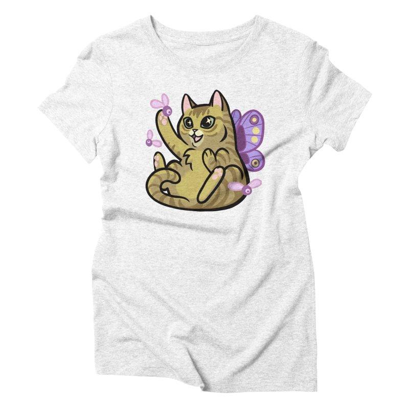 Fairy Cat Women's Triblend T-shirt by mirana's Artist Shop
