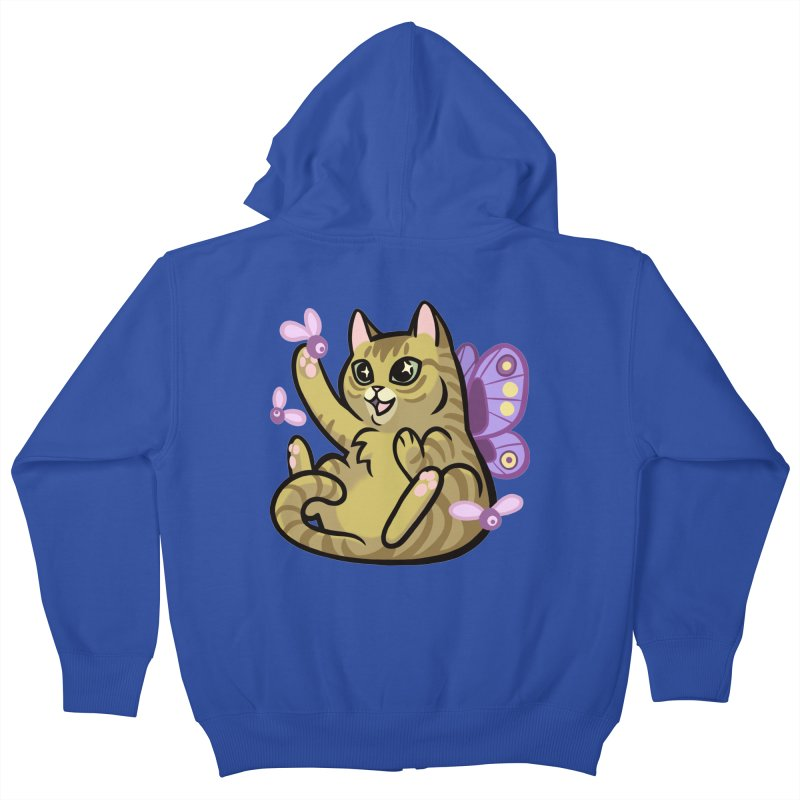 Fairy Cat Kids Zip-Up Hoody by mirana's Artist Shop