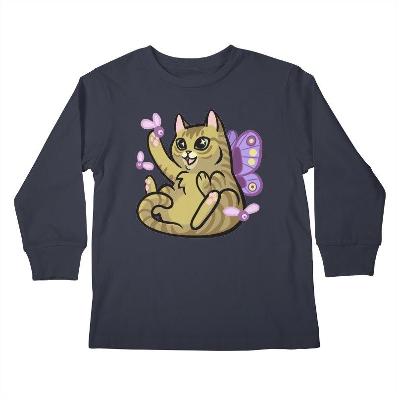 Fairy Cat Kids Longsleeve T-Shirt by The Art of Mirana Reveier
