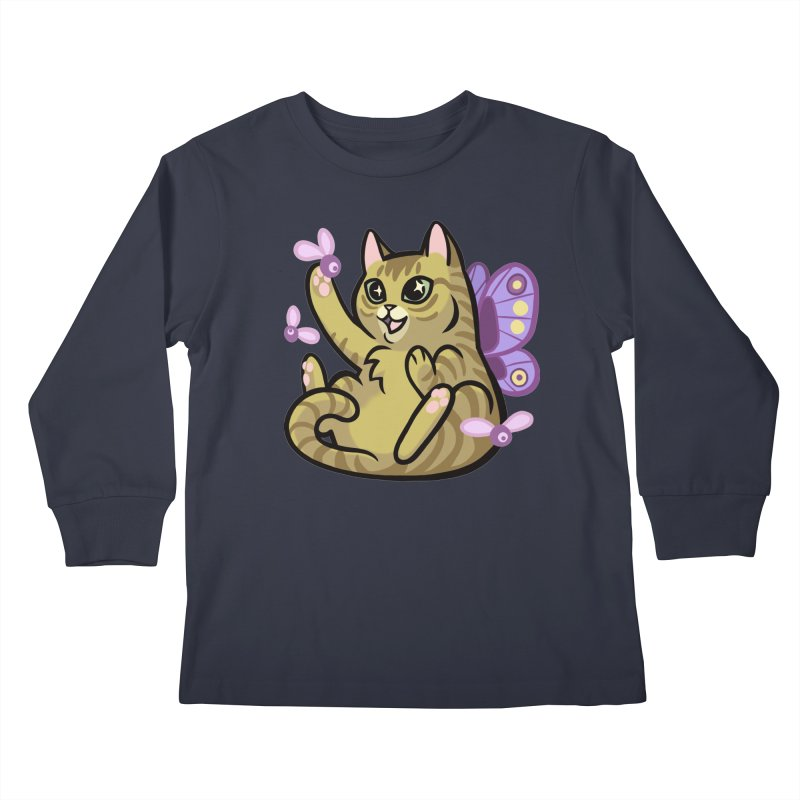 Fairy Cat Kids Longsleeve T-Shirt by mirana's Artist Shop