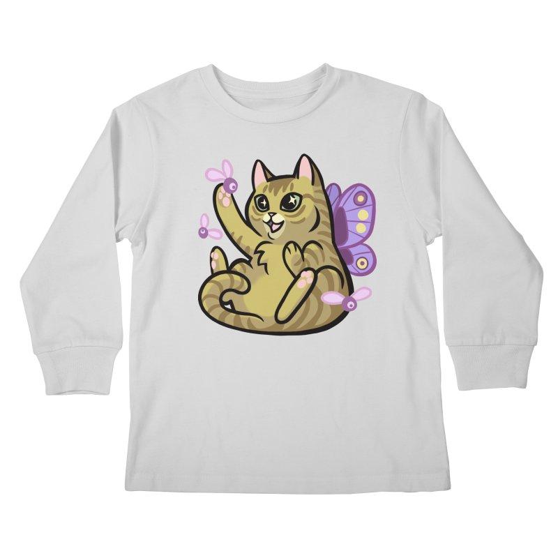 Fairy Cat Kids Longsleeve T-Shirt by mirana's Artist Shop