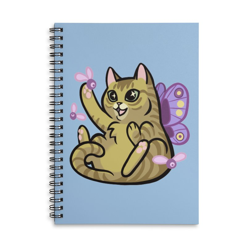 Fairy Cat Accessories Lined Spiral Notebook by mirana's Artist Shop