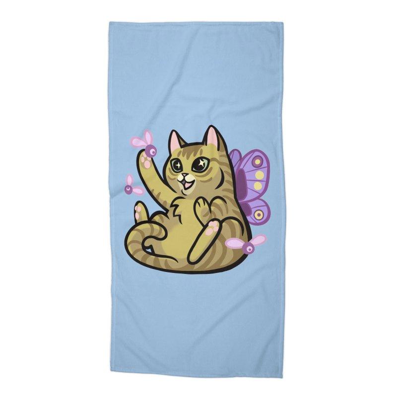 Fairy Cat Accessories Beach Towel by The Art of Mirana Reveier