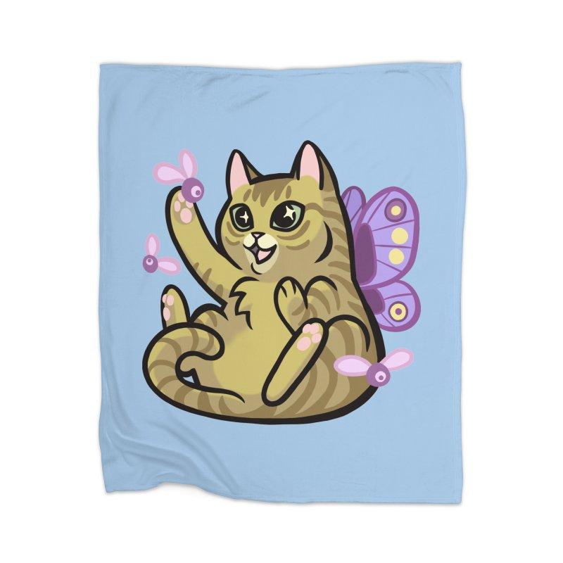 Fairy Cat Home Blanket by The Art of Mirana Reveier