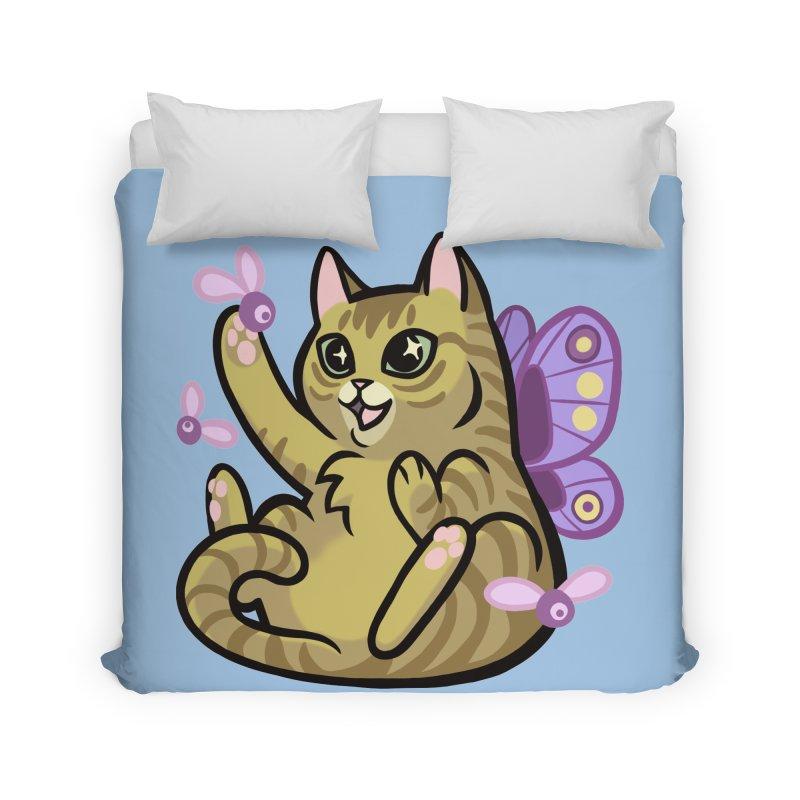 Fairy Cat Home Duvet by The Art of Mirana Reveier