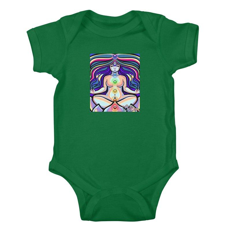 Chakras Kids Baby Bodysuit by Mira Silver Art