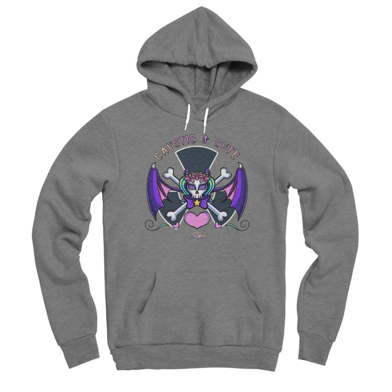 Caustic and Cute Skully Women's Pullover Hoody by Mira Silver Art