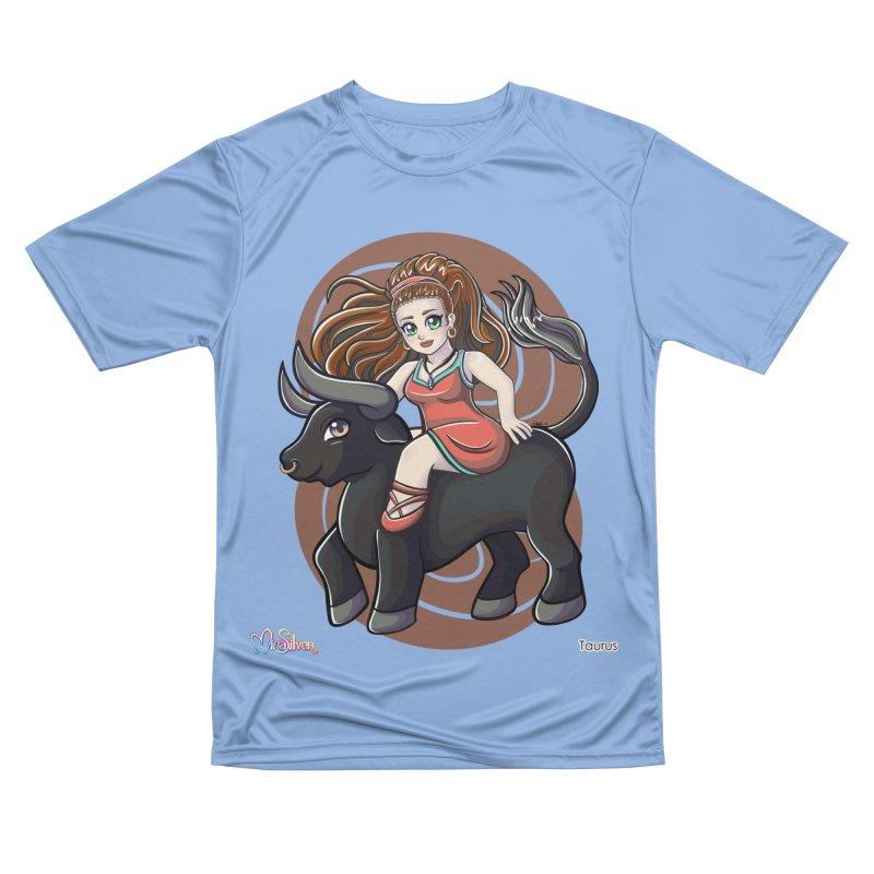 Taurus the Bull Men's T-Shirt by Mira Silver Art