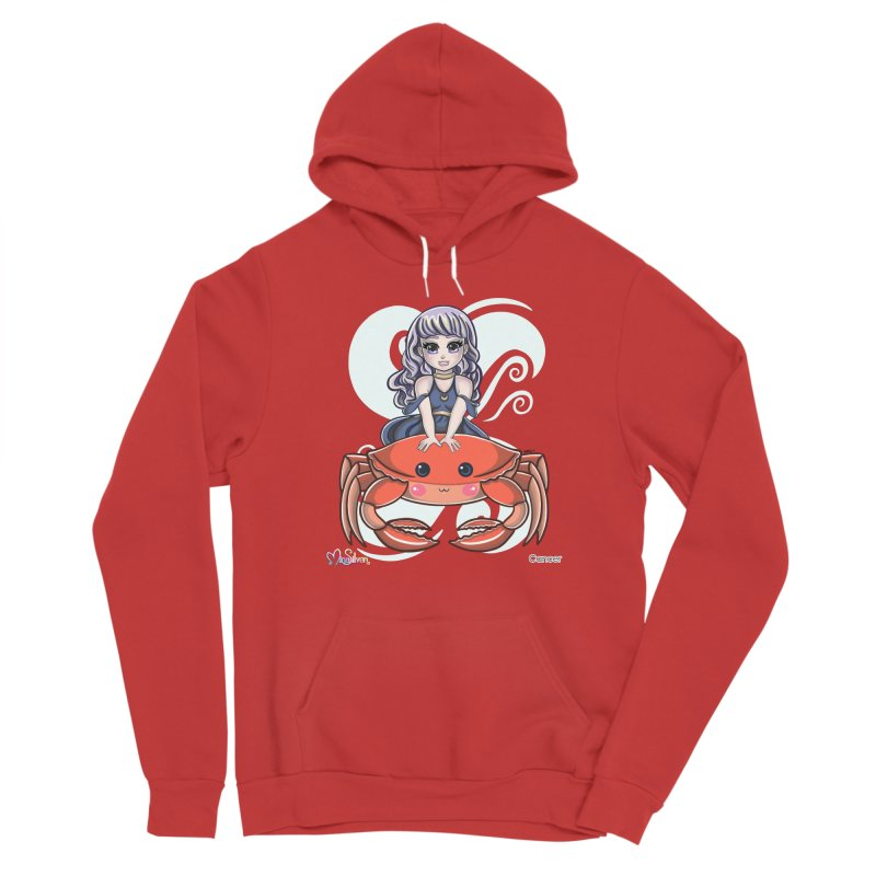Cancer the Crab Women's Pullover Hoody by Mira Silver Art