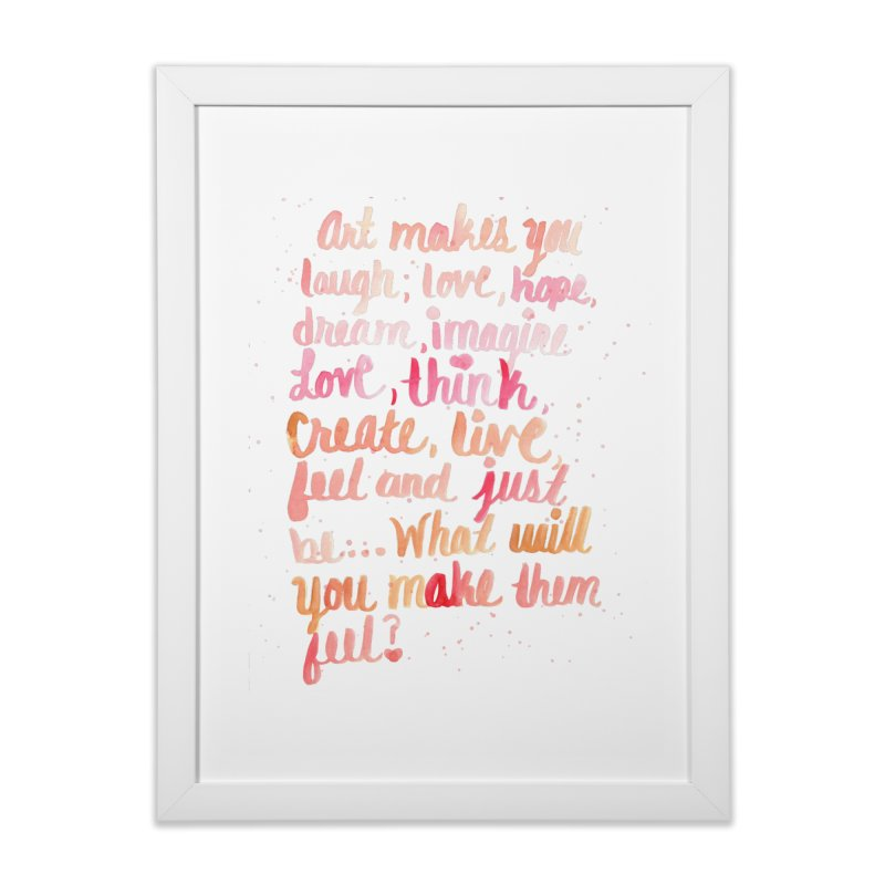 art is you in Framed Fine Art Print White by