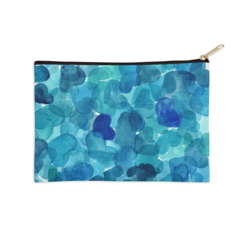 blue hearts in Zip Pouch by