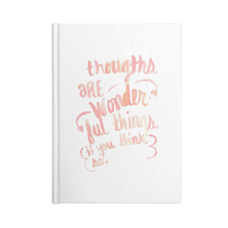 think wonderful in Blank Journal Notebook by