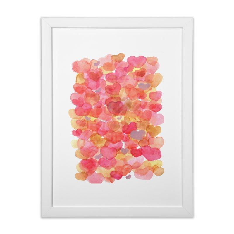 happy in Framed Fine Art Print White by