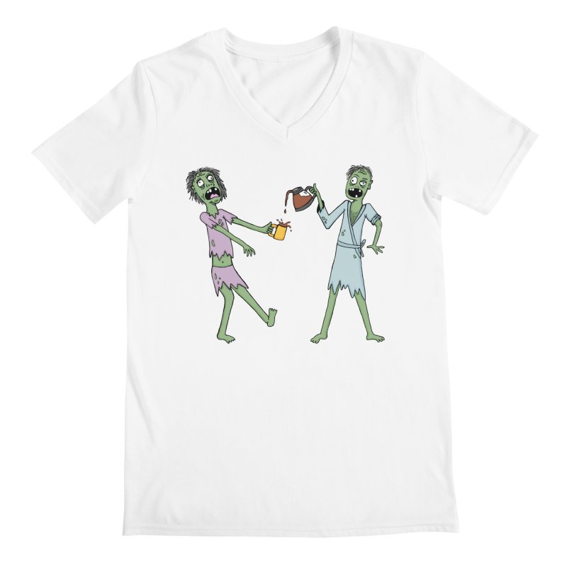 The Waking Dead Men's V-Neck by mirkaillustrates's Artist Shop