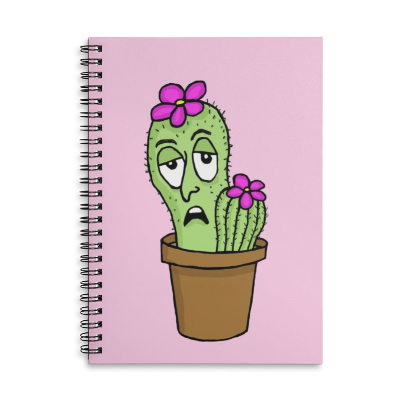 Cranky Cacti Accessories Notebook by mirkaillustrates's Artist Shop