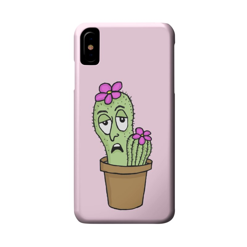 Cranky Cacti Accessories Phone Case by mirkaillustrates's Artist Shop