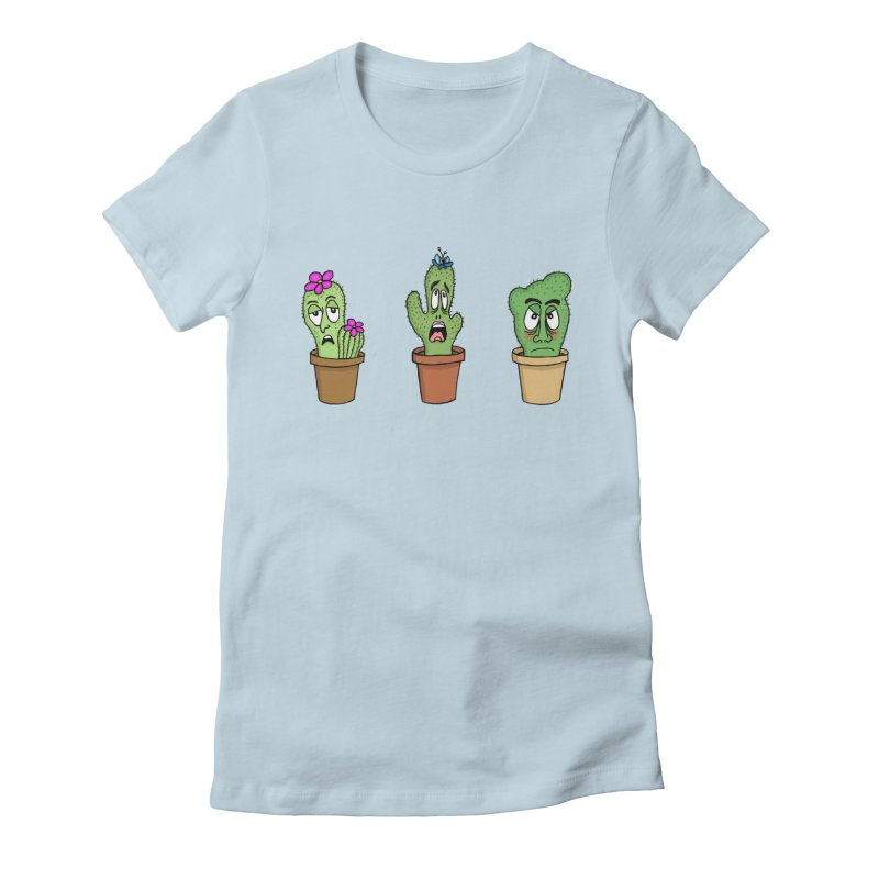 Cranky Cacti Women's T-Shirt by mirkaillustrates's Artist Shop