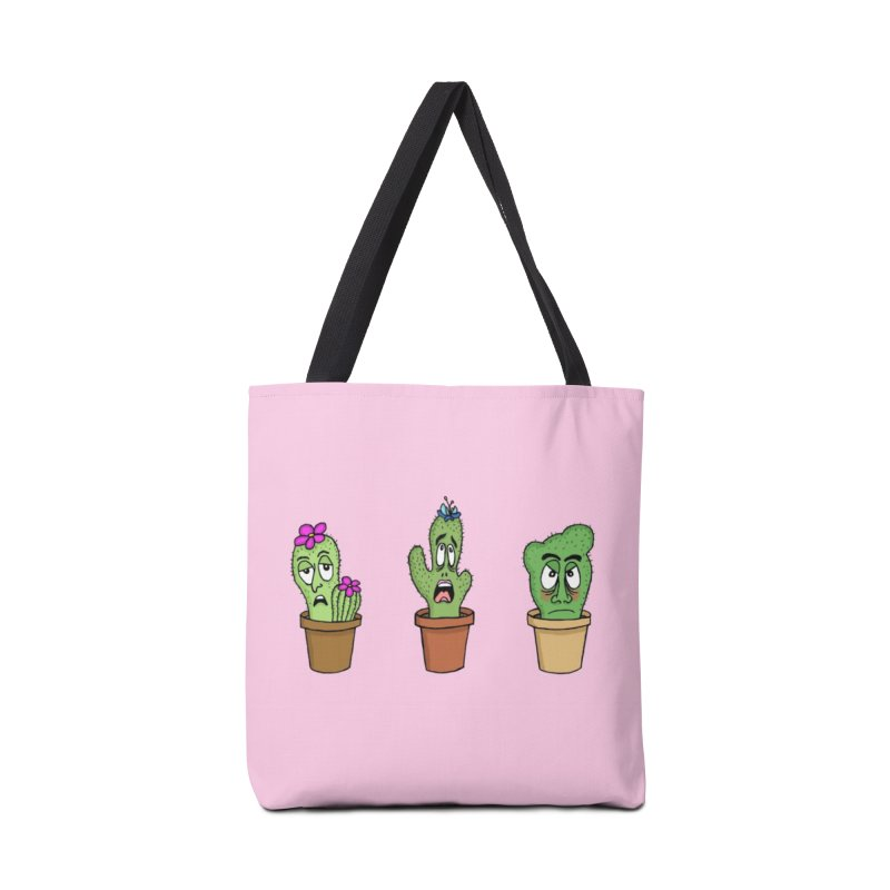 Cranky Cacti Accessories Bag by mirkaillustrates's Artist Shop