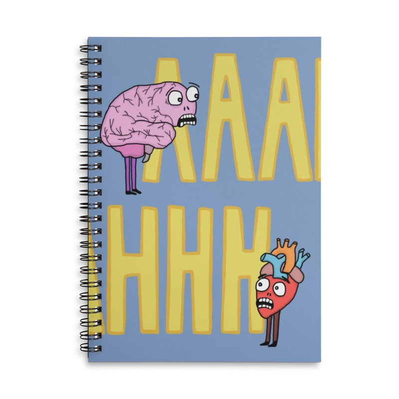 Anxiety Accessories Notebook by mirkaillustrates's Artist Shop