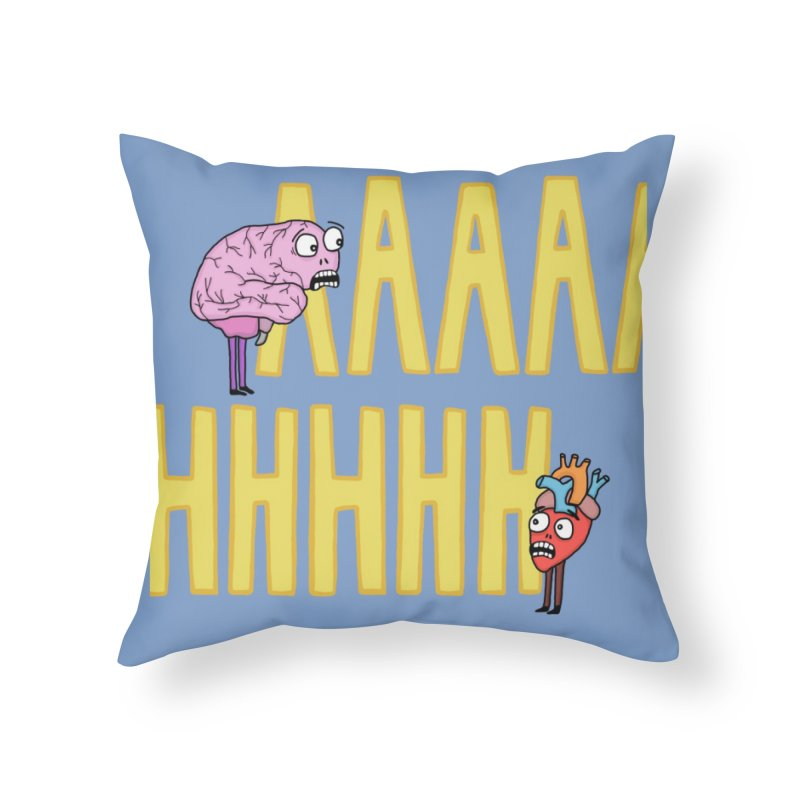 Anxiety Home Throw Pillow by mirkaillustrates's Artist Shop