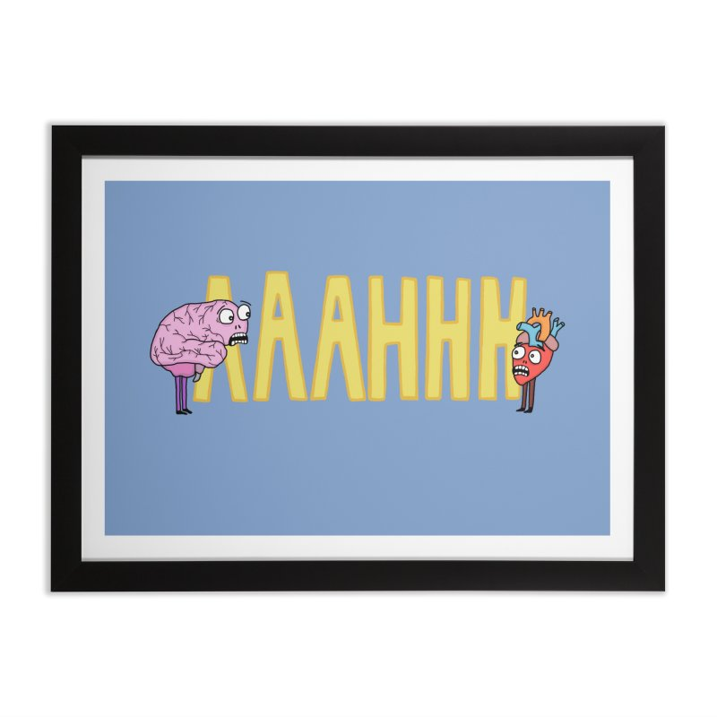 Anxiety Home Framed Fine Art Print by mirkaillustrates's Artist Shop