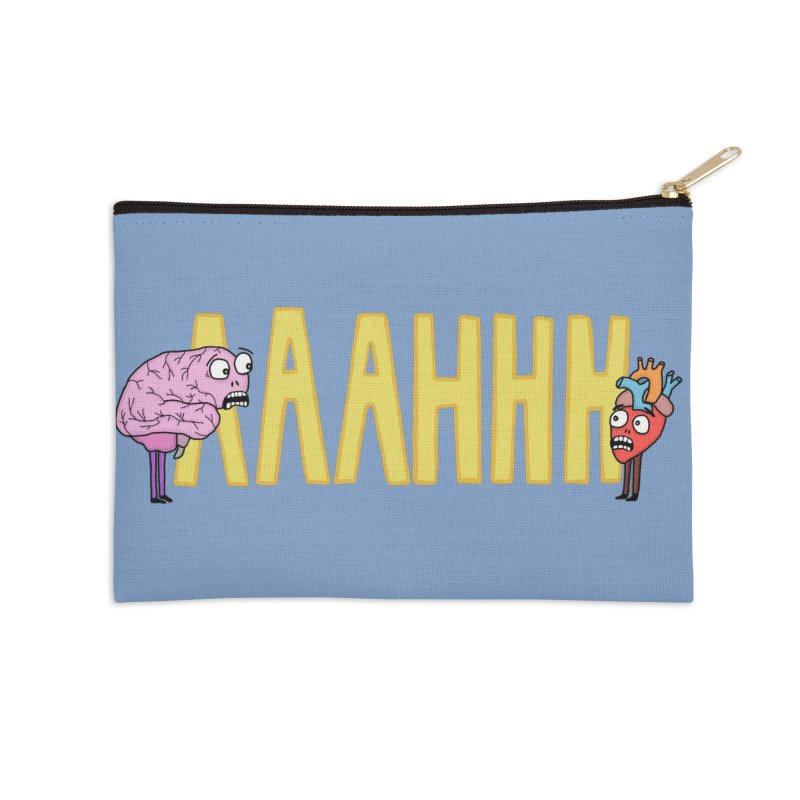 Anxiety Accessories Zip Pouch by mirkaillustrates's Artist Shop