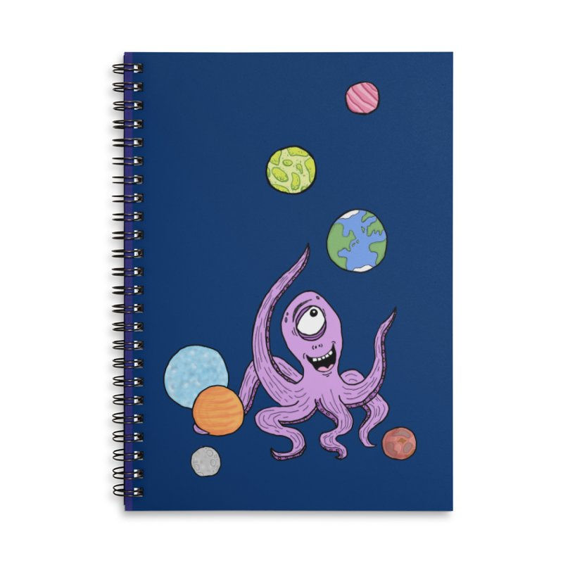Intergalactic Volleyball Accessories Notebook by mirkaillustrates's Artist Shop
