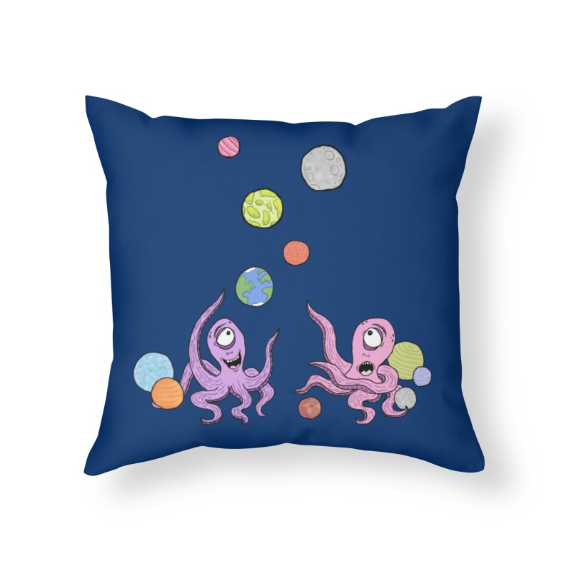 Intergalactic Volleyball Home Throw Pillow by mirkaillustrates's Artist Shop