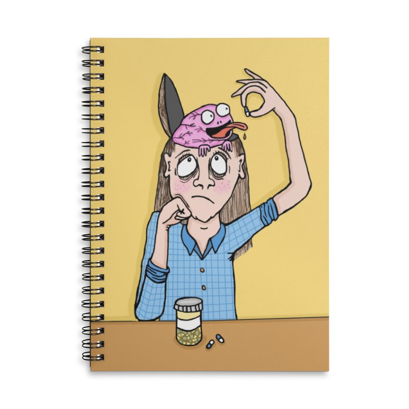 Feeding Brain Accessories Notebook by mirkaillustrates's Artist Shop