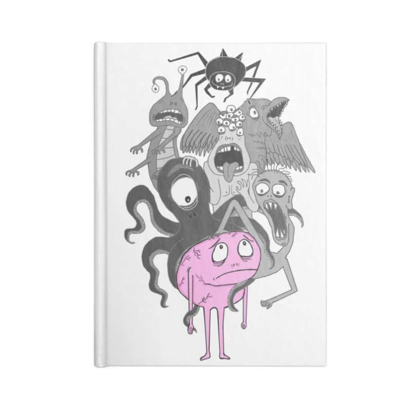 Brain Monsters Accessories Notebook by mirkaillustrates's Artist Shop