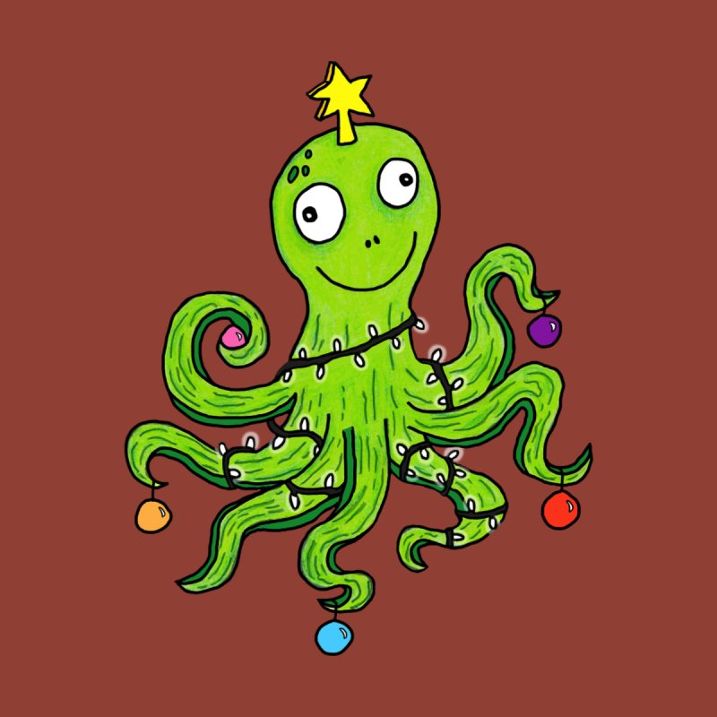 Christmas Octopus Accessories Sticker by mirkaillustrates's Artist Shop
