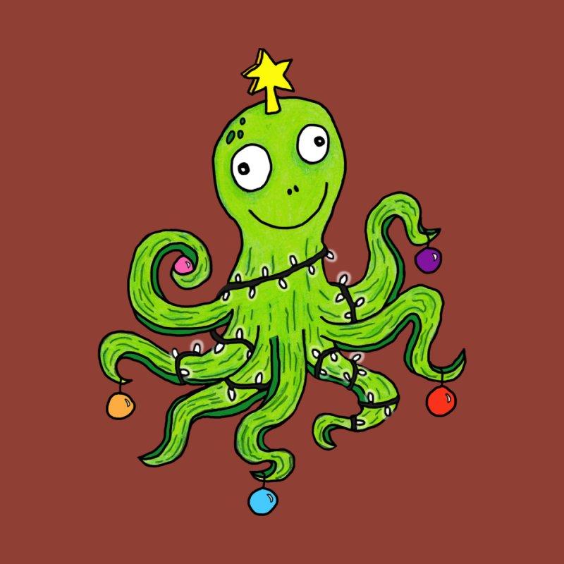 Christmas Octopus Men's Sweatshirt by mirkaillustrates's Artist Shop