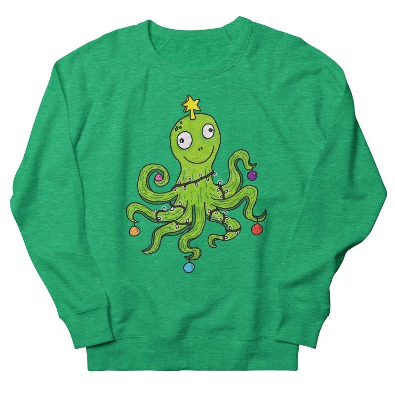Christmas Octopus Women's Sweatshirt by mirkaillustrates's Artist Shop