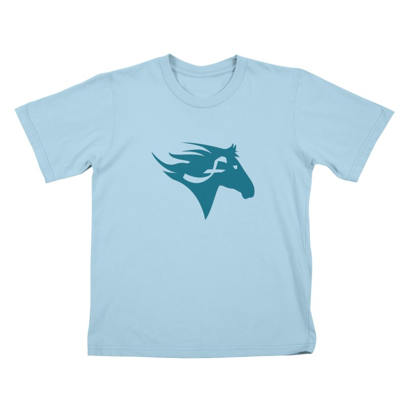 F is for Freedom - Horse Kids T-Shirt by mirrortail's Shop