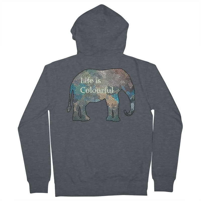 Elephant Mosaic Women's Zip-Up Hoody by mirrortail's Shop