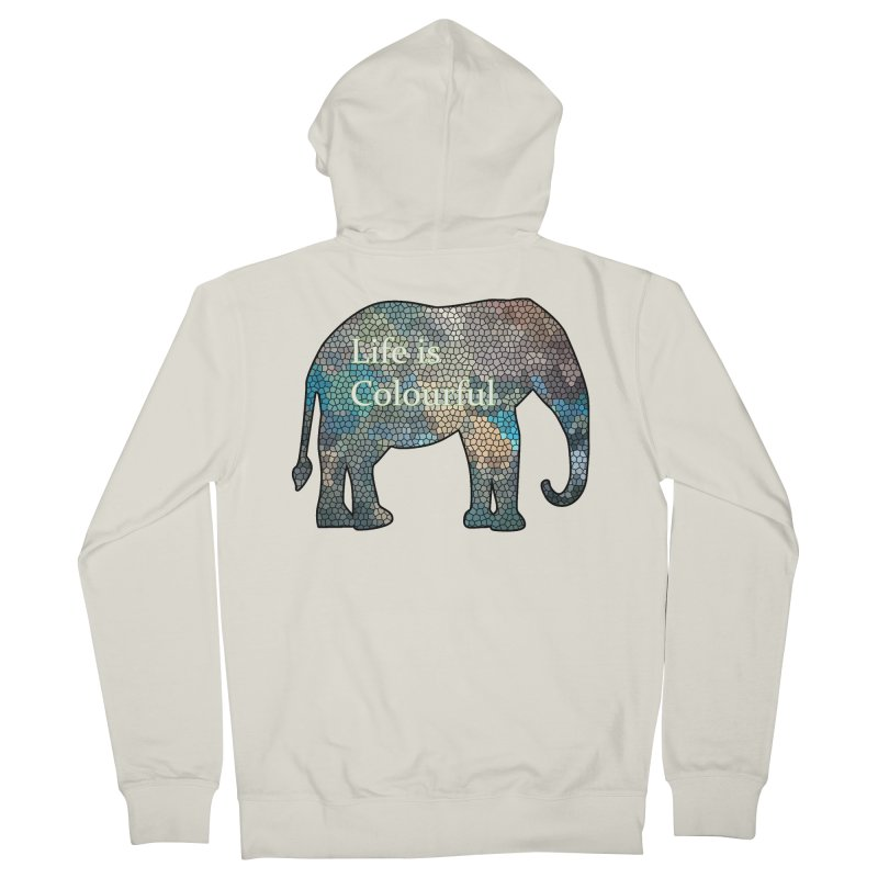 Elephant Mosaic Women's French Terry Zip-Up Hoody by mirrortail's Shop