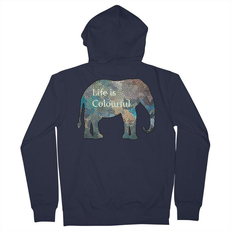 Elephant Mosaic Women's Zip-Up Hoody by mirrortail's Shop