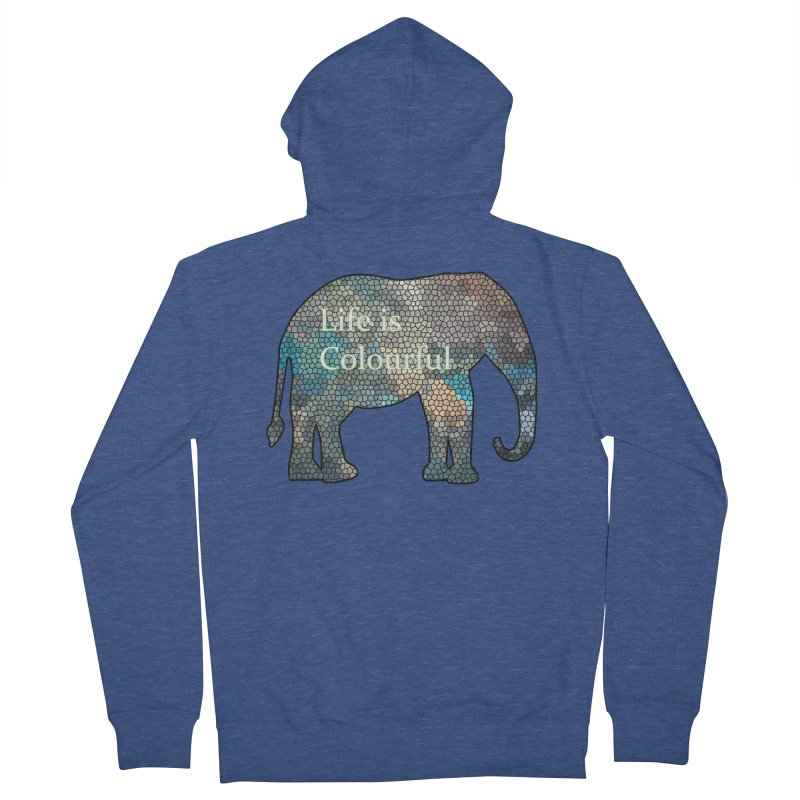 Elephant Mosaic Men's Zip-Up Hoody by mirrortail's Shop
