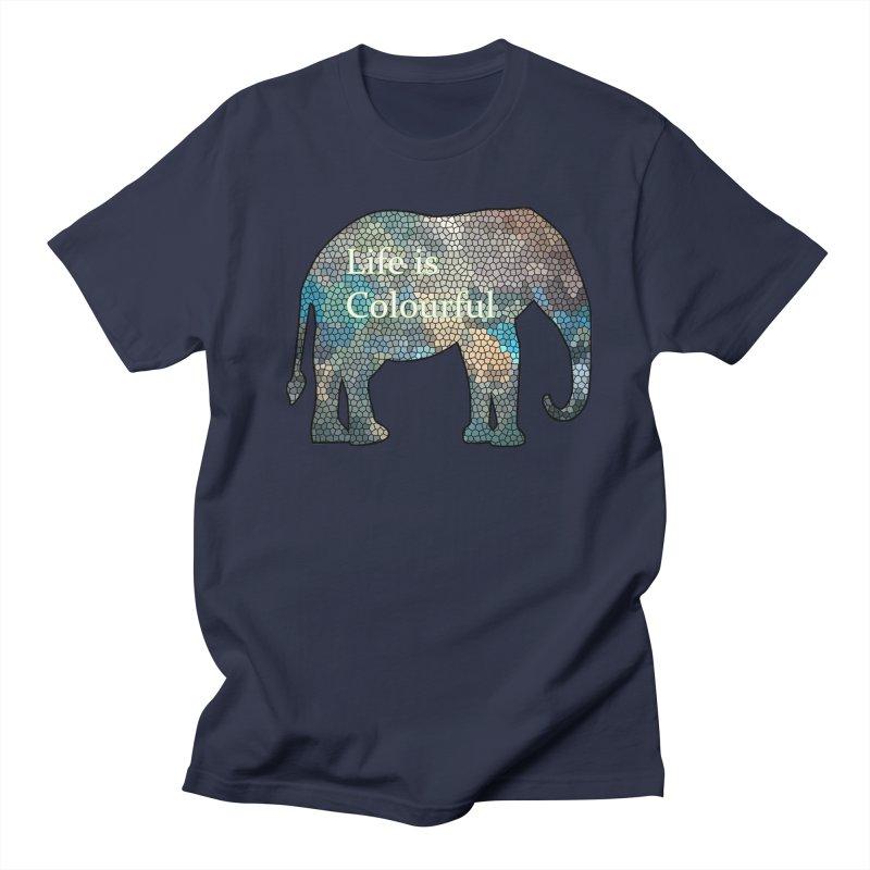 Elephant Mosaic Men's Regular T-Shirt by mirrortail's Shop