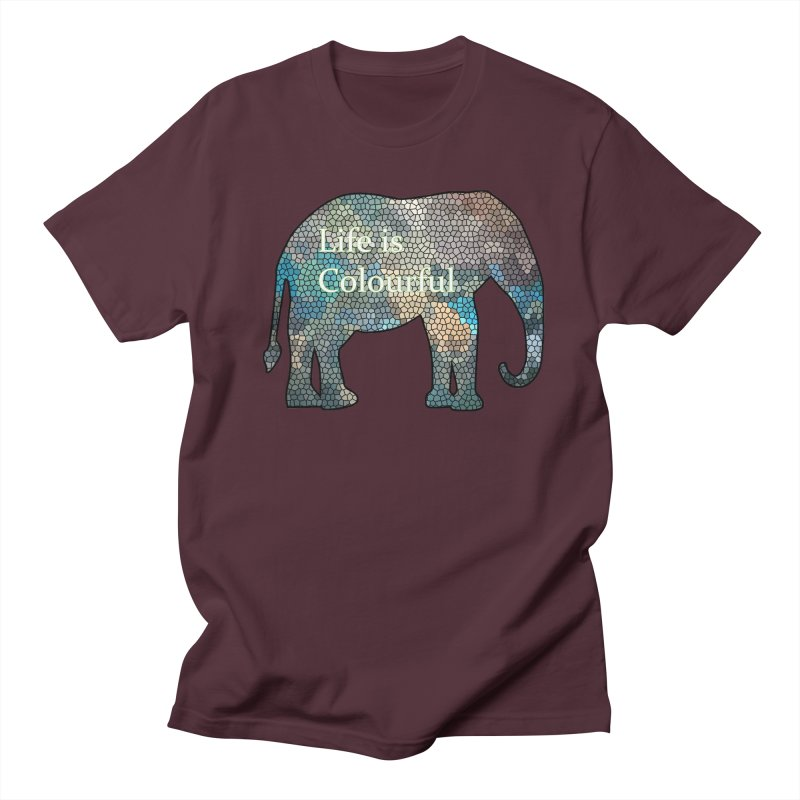Elephant Mosaic Men's Regular T-Shirt by mirrortail's Shop