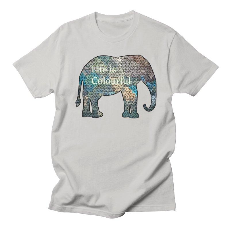 Elephant Mosaic Men's T-Shirt by mirrortail's Shop