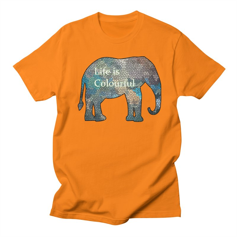 Elephant Mosaic Women's Regular Unisex T-Shirt by mirrortail's Shop