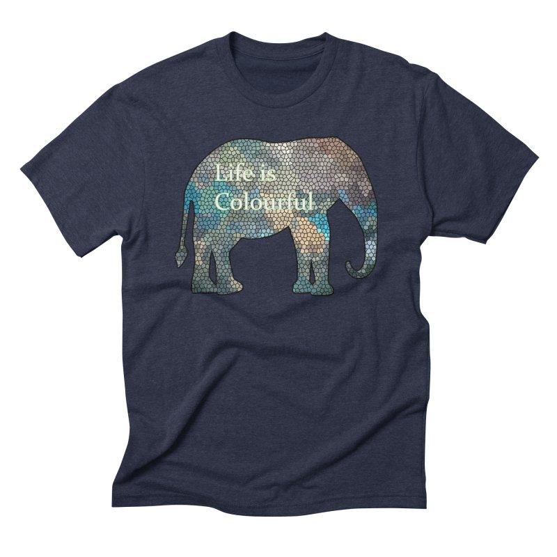 Elephant Mosaic Men's Triblend T-Shirt by mirrortail's Shop