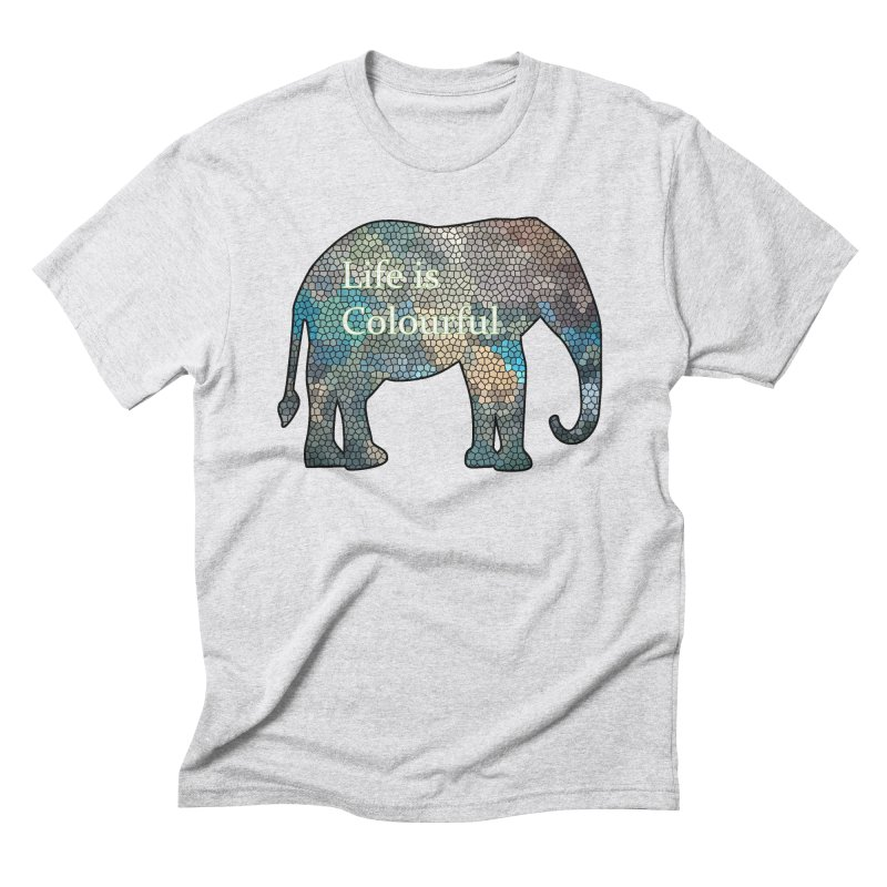 Elephant Mosaic Men's Triblend T-Shirt by mirrortail's Shop